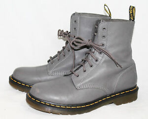 decf93619a519 DR MARTENS Pascal Women s 11M Gray Leather 8 Eyelet Lace Up Combat ...