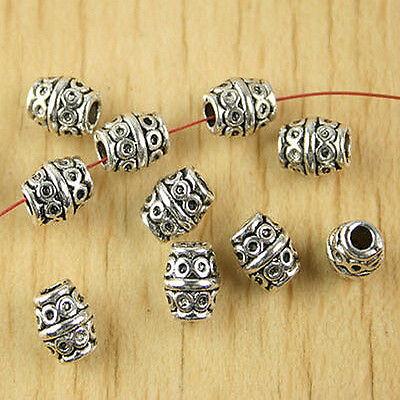 30pcs Tibetan silver eye oval spacer beads h2656