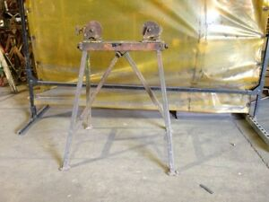 Pipe Jack Stands >> Pipe Stands with Adjustable Steel Rollers   eBay