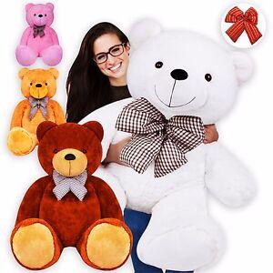 KIDIZ® 100 - 175cm Teddybär Kuscheltier Plüschtier Stofftier Bär Teddy Plüschbär