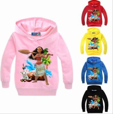 Moana Heihei Kids Hoodie Boys Girls Casual Printing Sweatshirt Sweater Coat