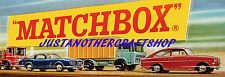 Matchbox Toys 1960's Shop Display Sign Point Of Sale Poster Advert Leaflet