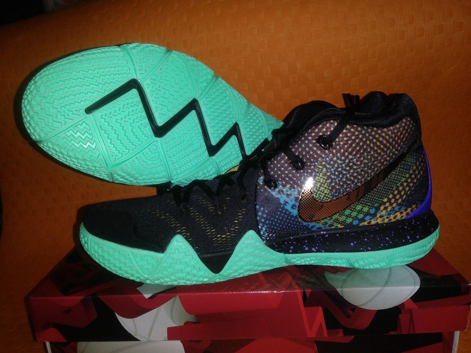 Nike Kyrie 4 Mamba Mentality Black Yellow Basketball shoes AV2597-001 Multi Sz12