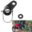 Connector Bike Trailer Angled Coupler Child//Pet Hitch Mount Elbow Locking Pin