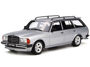 Mercedes-S123-280-TE-AMG-1982-silver-diecast-modelcar-OT246-Otto-1-18