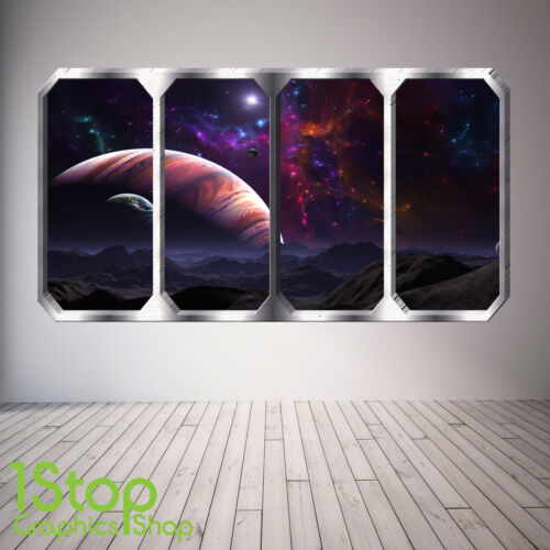 EARTH PLANETS SPACE SHIP SP19 SPACE PLANET WINDOW WALL STICKER FULL COLOUR
