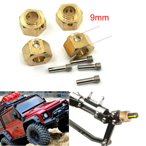 4x 6//8//9//11//12mm Heavy Hex Wheel Hubs For 1//10 RC Car Traxxas TRX-4 Crawler TRX4