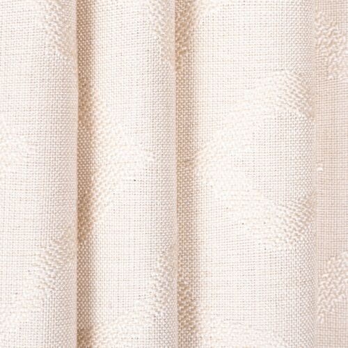 Ash Grey Or Ivory Abstract Geometric Design Pattern Soft Curtain Fabric Material