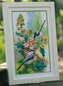 Chickadees-amp-Blossoms-Vervaco-Cross-Stitch-Kit-New