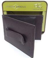 Joseph Abboud Men's Leather Bifold Money Clip Card Case ID Wallet Black NEW BOX