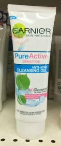 50ml. Garnier Pure Active Sensitive Anti Acne Cleansing Gel Oil Control Gently