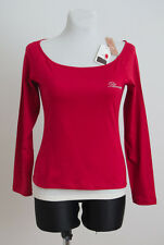WOMENS BLUMARINE TOP SHIRT LONG SLEEVE 100% COTTON M MEDIUM RED BNWT MOD. W48