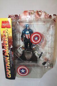 Marvel-CAPTAIN-AMERICA-Diamond-SELECT-7-034-COLLECTOR-Edition-ACTION-Figure-NIP