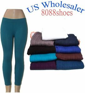 Wholesale-Lots-Women-039-s-One-Size-Stretch-Textured-Footless-Legging-NWT-10-PC