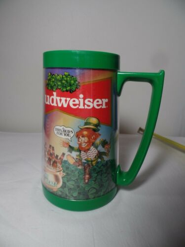 Vintage Budweiser Plastic Beer Mug Stein Leprechaun This Buds for You