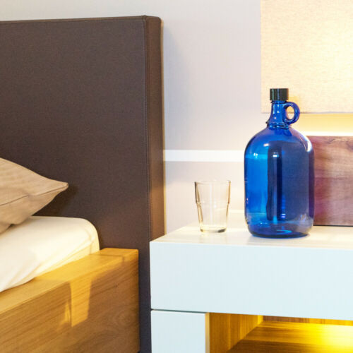 4 trozo botella dama juana 2 litros azul-galón gärballon henkel botella 2l