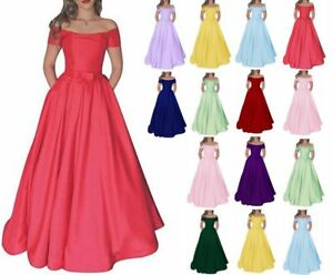 Sexy-Boat-Neck-Satin-Prom-Dress-Formal-Evening-Party-Bridesmaid-Gown-Dress-6-20
