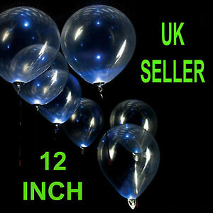 12-034-CLEAR-TRANSPARENT-BALLOONS-Latex-Quality-Party-Birthday-Wedding-CHRISTENING