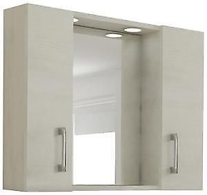 Mobile Specchio Da Bagno.Mobile Specchiera Da Bagno Mod 960 Con 2 Ante E Illuminazione Cm