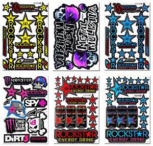 Rockstar Energy Stickers Enduro Sport MX Quad Bike Honda Motorcycle Husqvarna