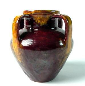 Jugendstil-Keramikvase-gemarkt