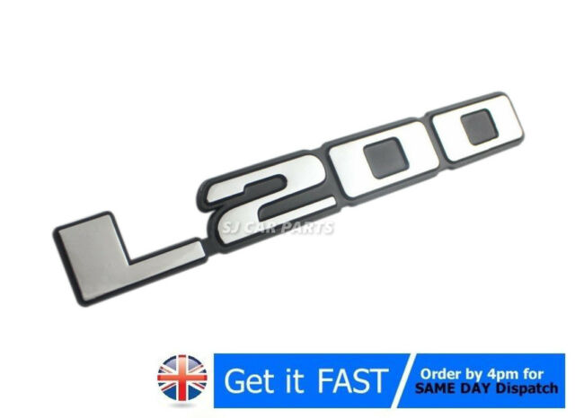 For Mitsubishi L200 Badge Emblem Chrome Silver Logo Car Sticker
