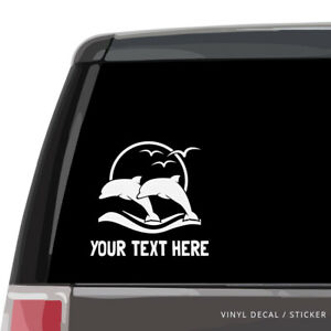 Dolphins Jumping Custom Dolphin Silhouette Vinyl Decal Car Window Sticker