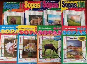 SOPAS-DE-LETRAS-Lote-de-4-tomos-de-100-paginas-boligrafo-de-regalo