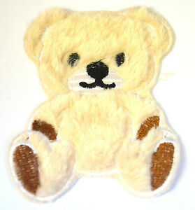 TEDDY-BEAR-PLUSH-FURRY-FLUFFY-Embroidered-Iron-Sew-On-Cloth-Patch-Badge-APPLIQUE