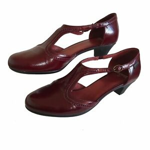 CAMPER-T-Bar-Mary-Jane-Shoes-Oxford-Brogues-Ruby-Red-Preppy-Landgirl-UK-8-41