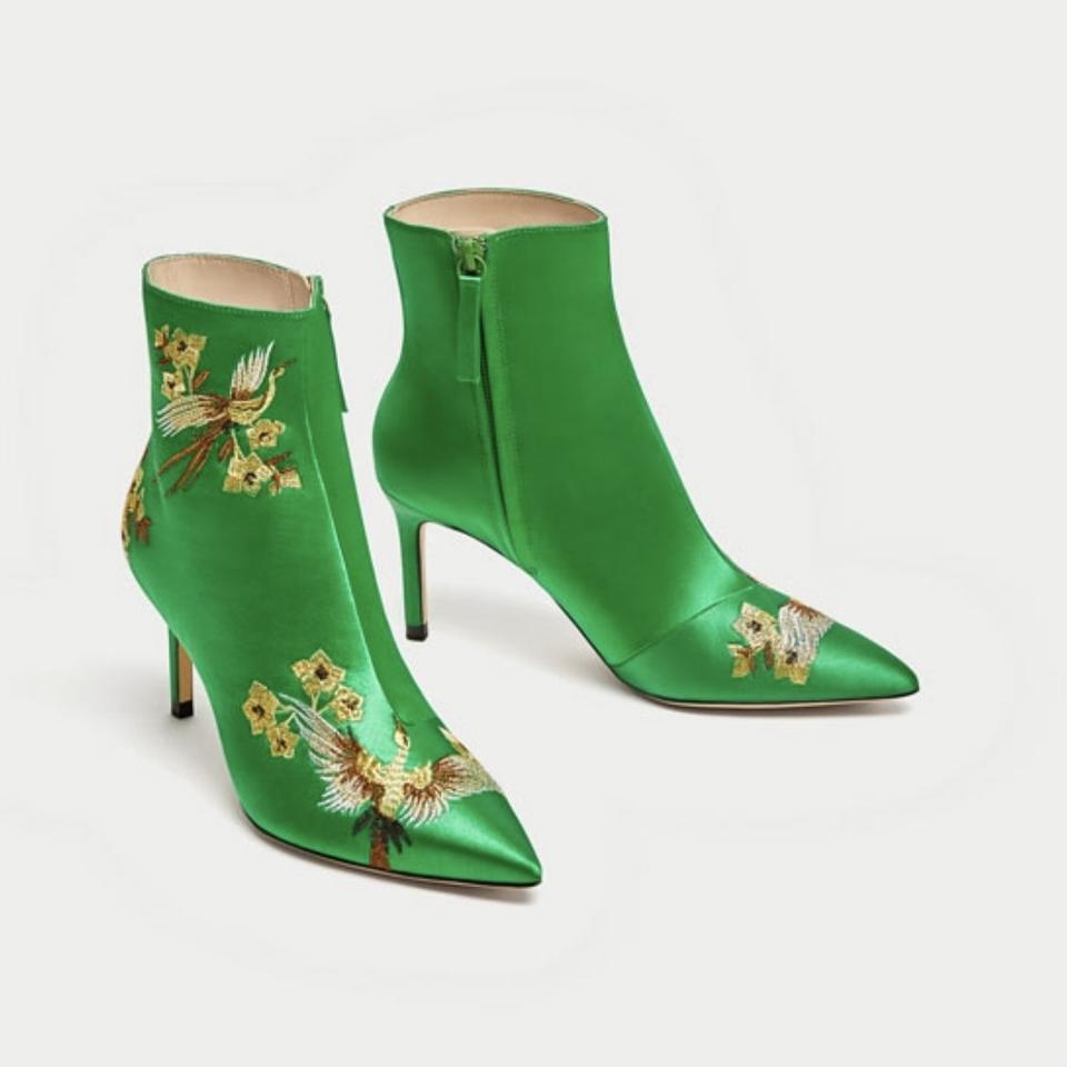 Zara Exclusive botines bordadas asia botines New Studio GUC