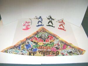 (4) 1993 Bandai Power Rangers Mini Figures