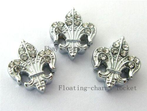 5pcs Lot 8 mm Lily Slider charms pour bricolage bracelet//Pet Collar ZC020