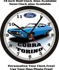 1972 FORD GRAN TORINO SPORT WALL CLOCK-FREE USA SHIP!