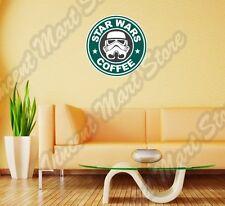 "Star Wars Coffee Starbucks Funny Wall Sticker Room Interior Decor 22"""