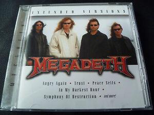 Megadeth-Extended-Versions-CD-2007-METALLICA-MD-45-PEACES-SELLS-AL-PITRELLI