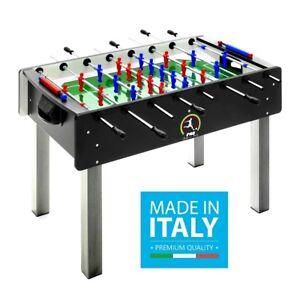 Calciobalilla-FAS-PRO-ITALY-NERO-Aste-USCENTI-Biliardino-Calcetto-Bigliardino