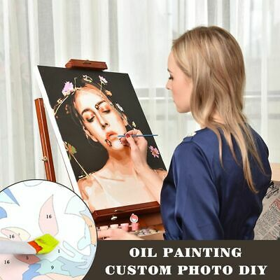Photo Customized Oil Painting By Numbers Drawing Canvas Children Photos DIY Gift