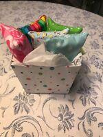 5 Handmade Purse Sz Tissue Holders With Gift Box /,pocket,diva/tote/kleenex