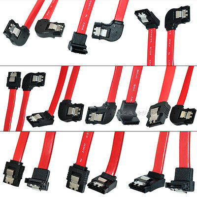 """50cm 1.5"""" Serial SATA ATA DATA straight left right up down angled Lead Cable 6GB"""