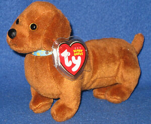 TY FRANK the DACHSHUND DOG BEANIE BABY - NEAR PERFECT TAG - ORIGINAL ... 7f06276bc18