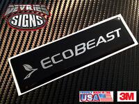 Domed Ford Ecobeast F-150 Ecoboost Emblem Overlays For Weathertech Floor Mats