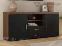 2 Doors 2 Drawers Sideboard Cupboard Tv Cabinet Free Delivery