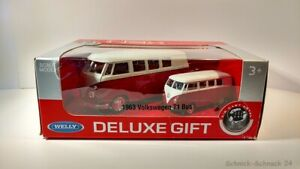 Welly-Deluxe-Gift-Volkswagen-T1-Bus-1963-OVP-28026