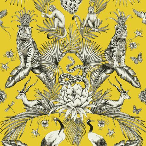 Belgravia DECOR MENAGERIE Animal Luxe Papier Peint Tropical Jaune 2001