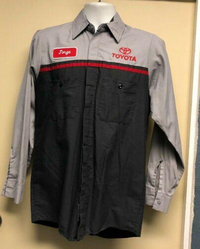 Red Kap Toyota Mens Long Sleeve Button Down Work Shirt Size S-R Jorge