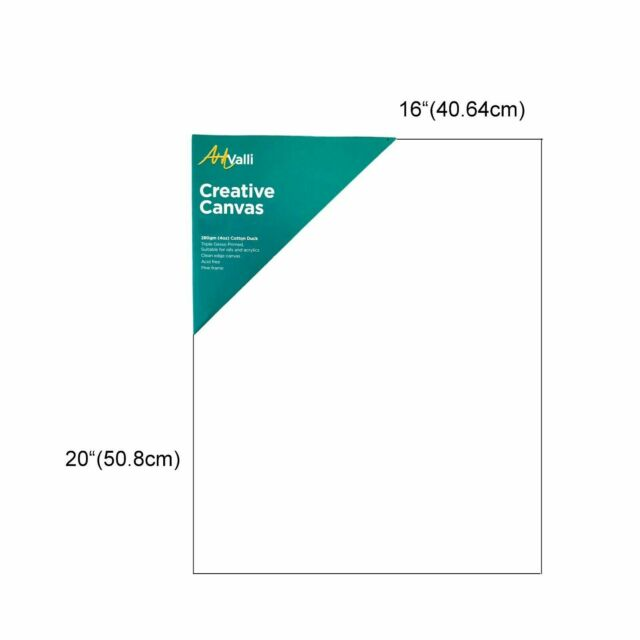 Artists Blank Canvas Boards Cotton Duck Gesso Primed 280g for Acrylic /& Oil Painting 20 x 25cm