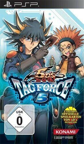 PSP jeu - Yu-Gi-Oh! jeu - 5D's Tag Force 5 dans l'emballage utilisé
