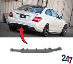 NEW-MERCEDES-BENZ-W204-C-CLASS-AMG-2011-2014-REAR-BUMPER-DIFFUSER-BLACK