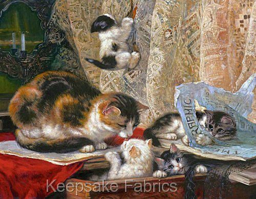 Ronner Kittens In Mischief Quilt Block Multi Sizes FrEE ShiPPinG WoRld WiDE